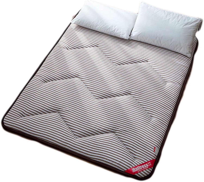 Stripe Cotton Tatami Mattress Japanese futon Thickening Bed Mattress pad Student Dormitories Folding Futon Mattress-B 90x200x3cm