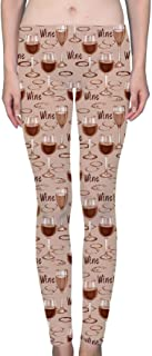 Wne Stains and Glass of Wine Women's Printed Leggings Soft Stretchy Workout Yoga Pants Fashion Sports Pants