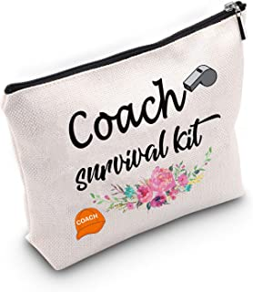Coach Makeup Bag Best Coach Ever Gift Coach survival kit Cosmetic Bags Gift Instructor Gift End the Class Thanks You Gift For Coach (Coach kit)