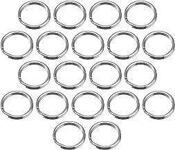 Merriway BH02113 Key Ring Spring Steel, 25mm (1 inch) -Nickel Plated, Pack of 20 Split Keyring