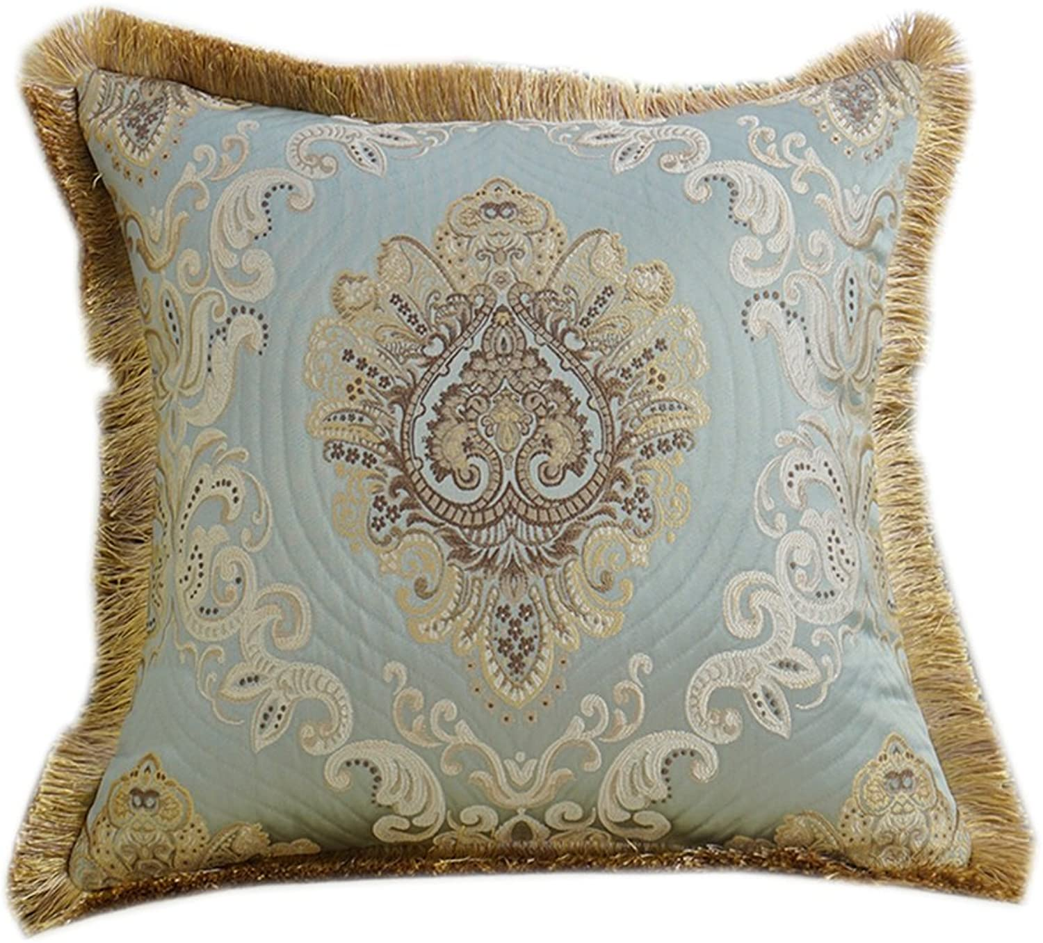 European Tassel Cushions with Core (color   blueee, Size   4060cm)