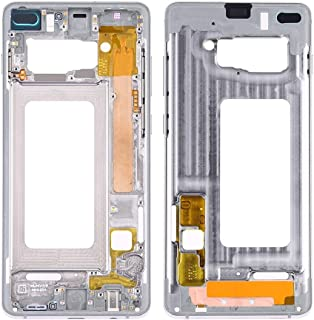 Original Repair Spare Parts Middle Frame Bezel Plate with Side Keys for Samsung Galaxy S10+(Silver) Cell Phone Accessories Accessories for Mobile Phone (Color : Silver)