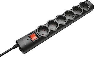 comprar comparacion Trust 21059 - Regleta de Seis Tomas con protección de sobretensiones, Negro