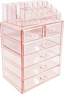 Sorbus Cosmetic Makeup and Jewelry Storage Case Display - Spacious Design - Great for Bathroo, Dresser, Vanity and Counter...
