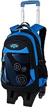 Rolling Backpack, Fanspack Wheeled Backpack for Boys 2019 New Boys School Bag with 6 Wheels Large Capacity Kids Roller Backpack Bookbag