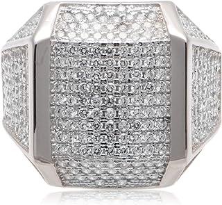 Atiq Womens 925 Sterling Silver Black Rhodium Plated - RB1258-SR-7, Color Black, Size 7