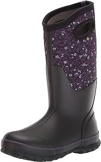 BOGS Women's Classic Tall Freckle Flower Waterproof Rain Boot