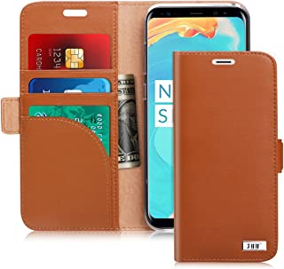 FYY Samsung S8 Plus Case, S8 Plus Cover [Kickstand Feature] Flip Folio Samsung Galaxy S8 Plus Genuine Leather Wallet Case ...