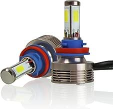 Optix 120W 12000LM LED Headlight Conversion Kit - H11 (H8, H9, H16) Low/High Beam Fog Light Bulbs - 6000K White - 4-Sided Epistar COB Chip - 360 Light Plug and Play - 1 Pair