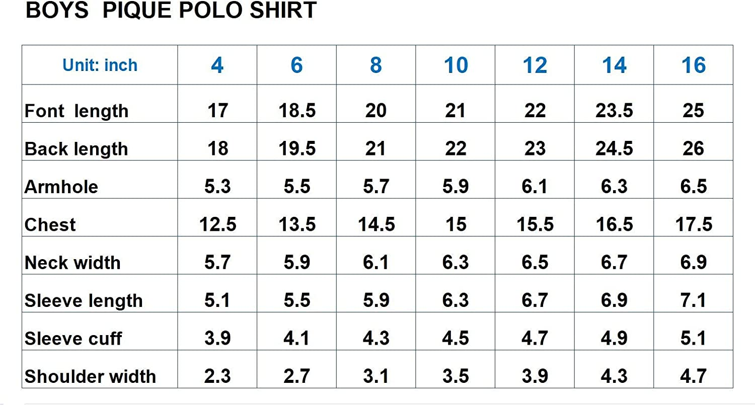 Boys Classic Fit Short Sleeves Pique Polo Shirt