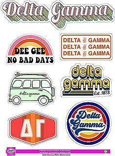 Delta Gamma - Sticker Sheet - Retro Theme