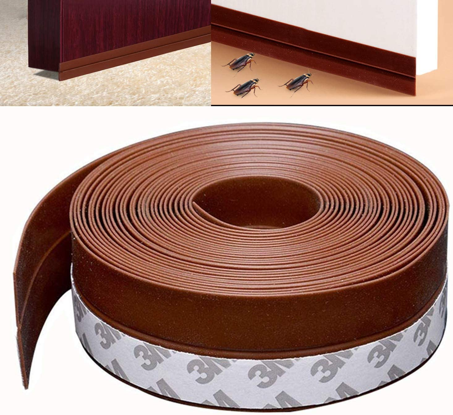 Door Inventory cleanup selling sale Weather Stripping 35mm Silcone Strip Charlotte Mall S Soundproof Seal