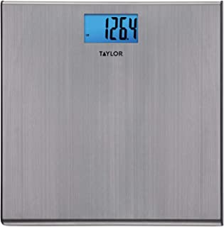 Taylor Digital 440 Pound Capacity Extra Thin Stainless Steel Bathroom Scale