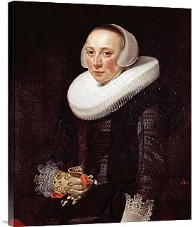 Global Galerie Budget gcs-264867–76,2–360,7 cm Nicolaes Eliasz Portrait Of A Lady Galerie Wrap Giclée-Kunstdruck auf Leinwand Art Wand B01K1P05S0  Moderner Modus