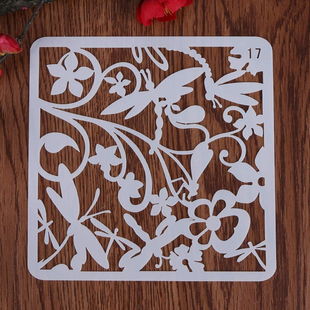 Diy Craft Dragonfly Be super welcome Layering Template Scrapbook Be super welcome Plastic Stencils