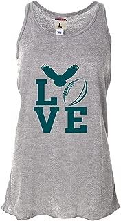 Womens Love Football Philadelphia Flowy Racerback Tank Top T-Shirt