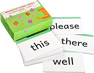 Attractivia Sight Words Magnetic Flash Cards Kindergarten - 52 Large Cards for Literacy of Beginning Readers and ESL
