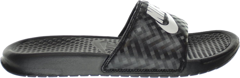 Nike Women's Benassi JDI Slides Black White