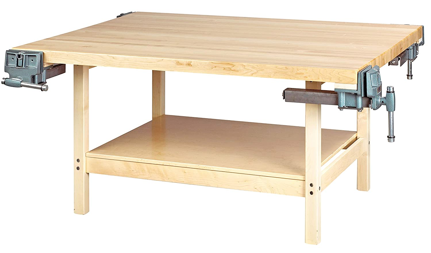 Diversified Woodcrafts WW4-4V Super-cheap Solid Maple Station 4 Wood Workben cheap