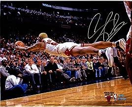 Dennis Rodman Chicago Bulls Dive For Loose Ball Horizontal 16x20 Photograph - Steiner Sports Certified