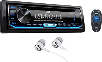 JVC Stereo Car Single DIN In-Dash CD MP3 Car Stereo Receiver Front USB AUX Inputs Android..