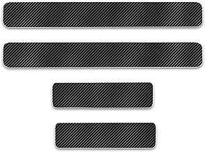 8X-SPEED para Eclipse 4D M Fibra de Carbono Pegatinas Sillín Pedal Proteger Umbral Cubierta Car Styling Sticker 4 Piezas Blanco
