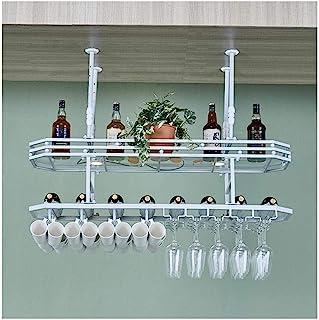 HZWLF Porte-Verre à vin, décoration créative de comptoir de Bar à l'envers, Porte-Verres à Pied, Cintre Suspendu, Porte-go...
