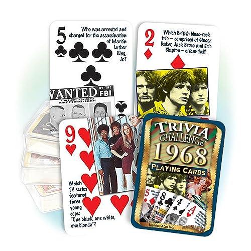 Flickback Media 1968 Trivia Playing Cards, Birthday Gift