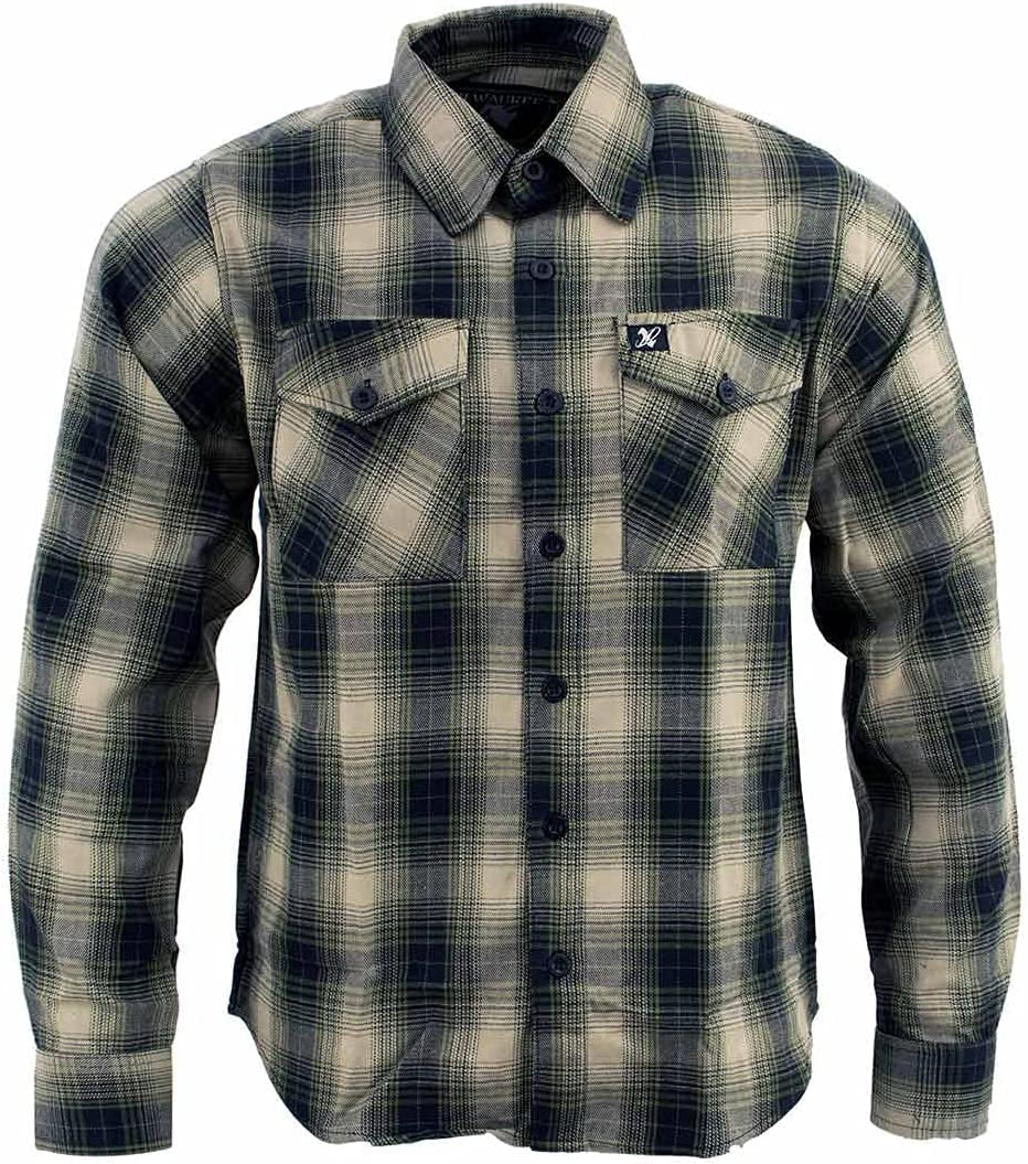 Milwaukee Leather MNG11649 Men's Button Front Long Sleeve Cotton Flannel Shirt - 3X-Large