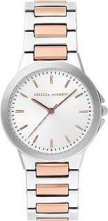 Rebecca Minkoff Women's Quartz Watch with Stainless Steel Strap, Silver, 18 (Model: 2200324)
