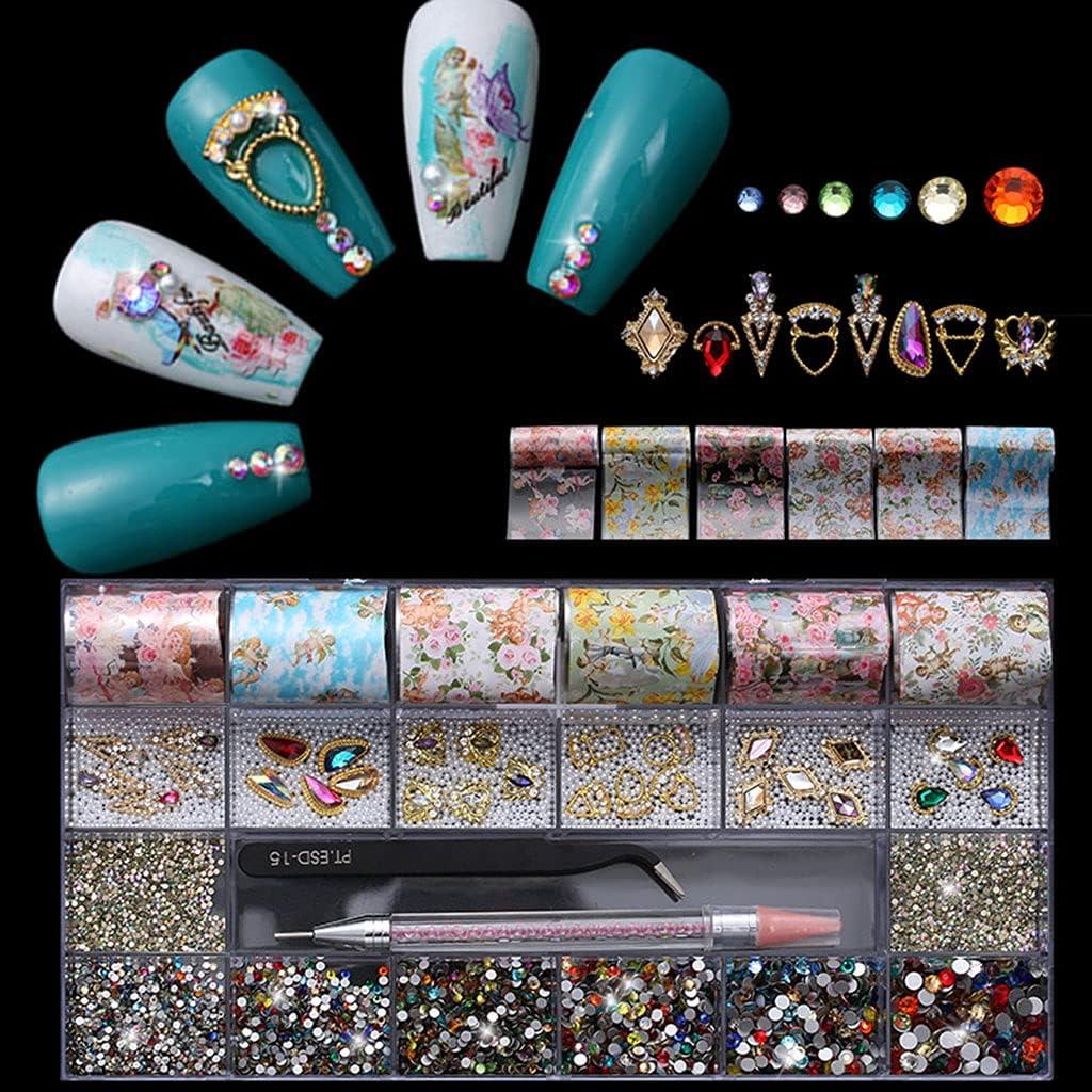 Regular discount Y-YUNLONG Nail Rhinestones Crystals Gems OFFicial store Jewels Multi Shapes Dia