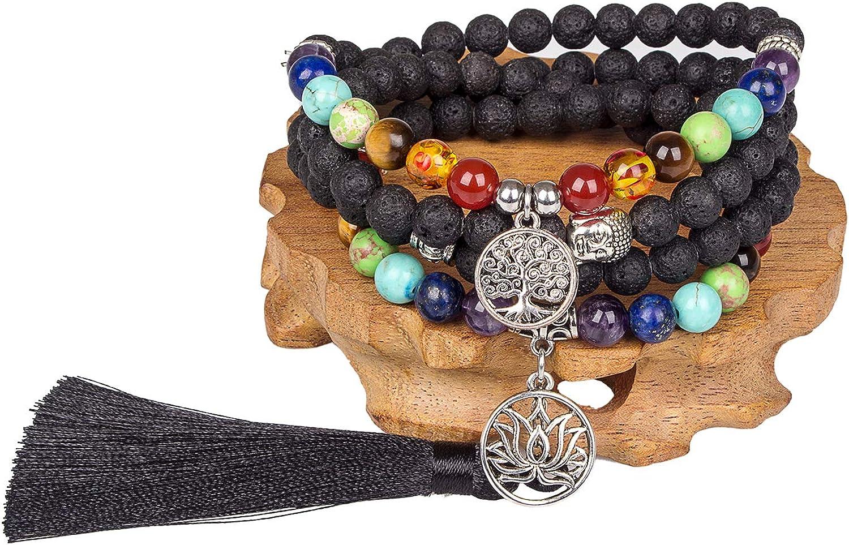 Inexpensive Mala Beads 108 Necklace Meditation Prayer Bead Award-winning store Chak of Life Tree