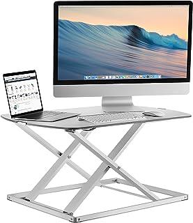 Mount-It! Standing Desk Converter, Height Adjustable Sit Stand Desk, 31x22 Inch Preassembled Stand Up Desk Converter, Ultr...