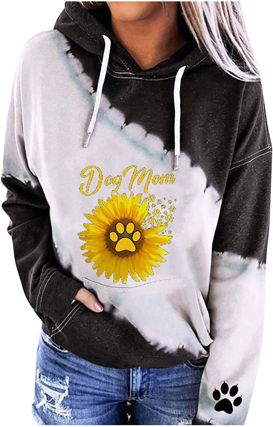 Kanzd Hoodie for Women Fashion Graphic Casual New life Max 47% OFF Dog Sunflower Swea