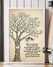 Mattata Decor Gift - Let_s Get Married Song Lyrics Portrait Poster Print (16