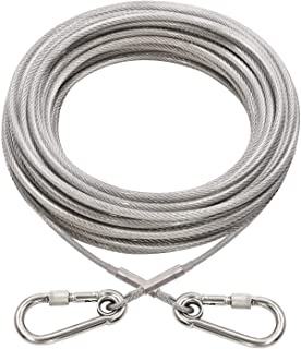 Best XiaZ Dog Runner Tie Out Cable for Dogs Up to 60/250 Pound, 10ft 20ft 30ft 40ft 50ft 70ft 100ft Dog Lead Line for Yard, Camping, Park, Outside Review