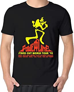 Mens Fashion Tee Powerline The Stand Out Tour Men Cotton Short Sleeve