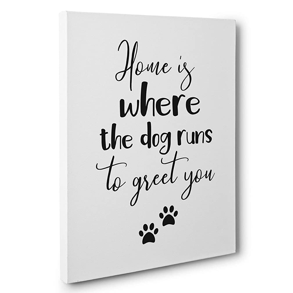 Home Is Where The Dog Runs Canvas Wall Art