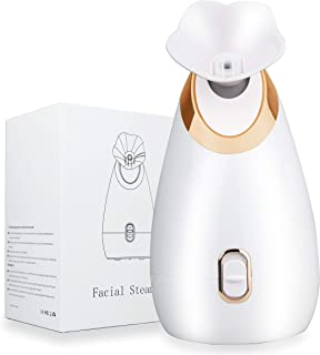 Facial Steamer - Lumcrissy Nano Ionic Face Steamer for Home Facial Warm Mist Humidifier Steamer for Face Sauna Spa Sinuses...