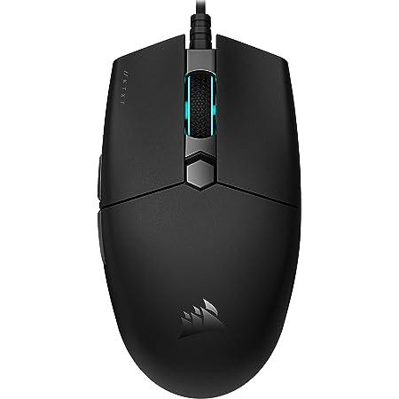 Corsair KATAR PRO XT Mouse Gaming Leggero, Forma Simmetrica, Per Una presa Claw oppure Finger, Pulsanti con Tecnologia Corsair QUICKSTRIKE, Sensore Ottico da 18.000 DPI, Nero