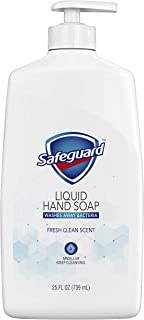 Safeguard Liquid Hand Soap, Micellar Deep Cleansing, Fresh Clean Scent   Washes Away Bacteria - 25 Ounce Bottle (Pack of 1)