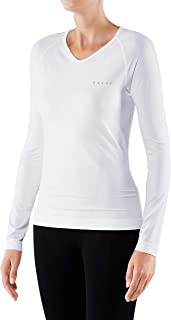 FALKE Women Warm Comfort Fit Long Sleeve Shirt - Sports Performance Fabric, White (White 2860), S, 1 Piece