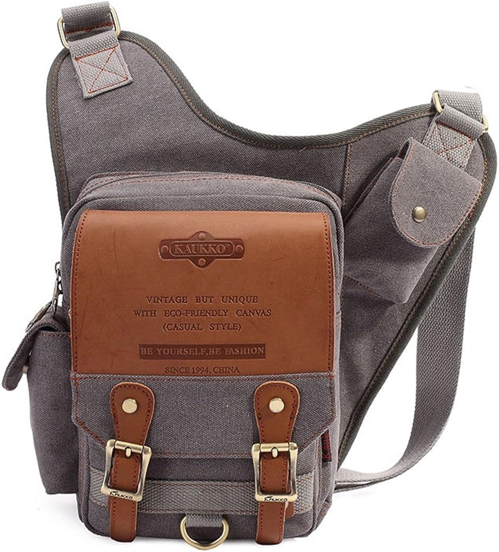 Sunbobo Sunbobo Sunbobo Casual Herren Taschen Reißverschluss wasserdicht Canvas Messenger Bag Umhängetasche (Farbe   Grau) B07D8RLK16  Neuartiges Design dd3c34