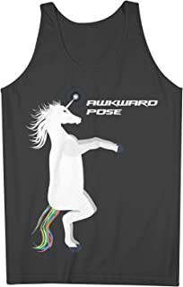 Yoga Unicorn Awkward Pose おかしいです 男性用 Tank Top Sleeveless Shirt