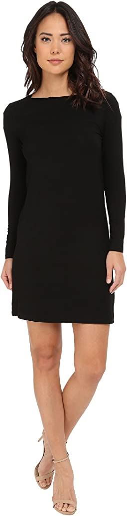 Christin Michaels - Avery Boat Neck Long Sleeve Dress