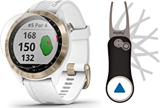 $309 » Garmin Approach S40 (White/Gold) Golf GPS Smartwatch Bundle | Includes Garmin/PlayBetter Pitchfix Divot Tool & HD Screen P...