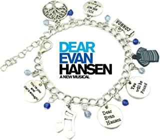 Dear Evan Hansen Broadway Musical Charm Bracelet w/Gift Box You Will Be Found Premium Cosplay Jewelry Series by Superheroes