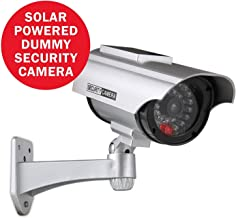 ANNKE Dummy Fake Security Camera with Flashing Red LED for Indoor and Outdoor Use, IP56 Weatherproof CCTV Surveillance Fake Camera
