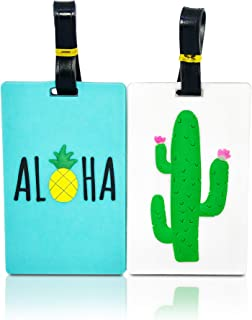 Cute Luggage Tags for Womens Travel/Set of Suitcase ID Tags