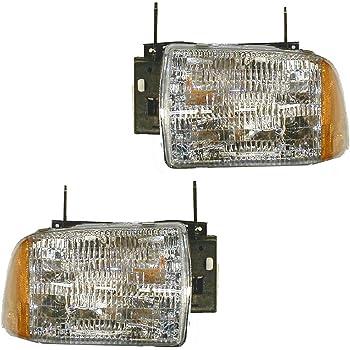 amazon com headlights headlamps left lh right rh pair set for 95 97 chevy blazer s10 automotive headlights headlamps left lh right rh pair set for 95 97 chevy blazer s10
